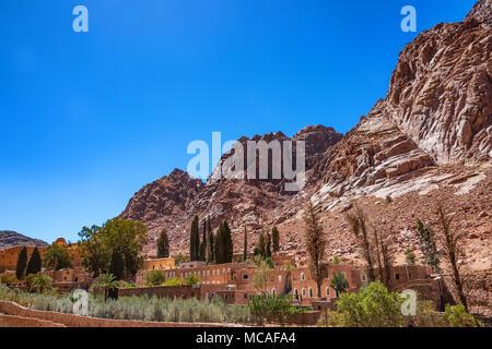 View of Saint Catherine's Monastery, Sinai, Egypt - Stock Photo