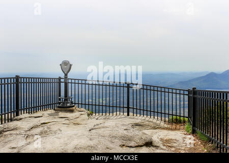 Misty view at a Caesars head state park overlook in South Carolina - Stock Photo