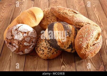 Bread and rolls nowadays occur in many types and shapes not only in Poland but in the world. - Stock Photo