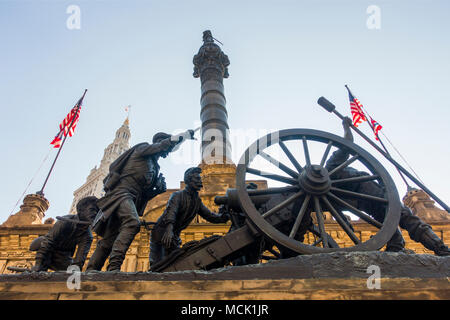 Soldiers and sailors monument in Cleveland Ohio - Stock Photo