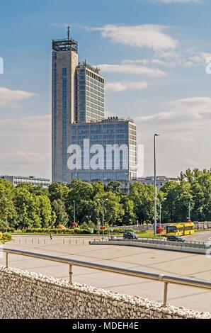 Hotel Qubus, Center of Katowice city, Silesia, Poland. - Stock Photo