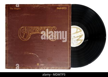 The Carpenters singles album - Stock Photo