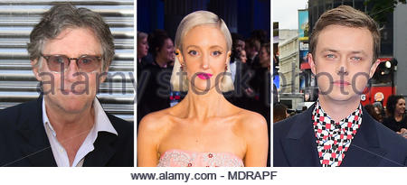 Undated file photos of (left to right) Gabriel Byrne, Andrea Riseborough and Dane DeHaan, as the trio will star in an adaptation of crime thriller ZeroZeroZero by Roberto Saviano. - Stock Photo