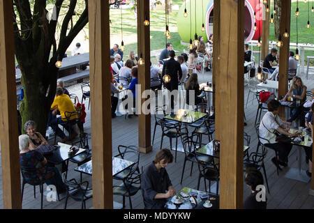 La Treinnale di Milano, Milan, Italy, Design week 2018, cafe - Stock Photo