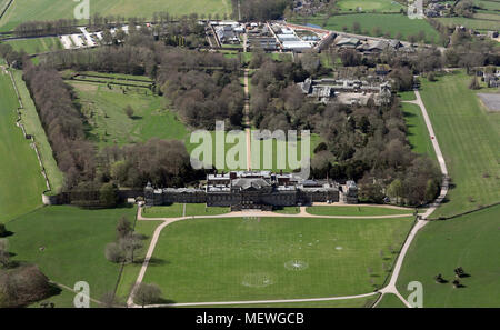 aerial view of Wentworth Woodhouse Country House near Rotherham, South Yorkshire - Stock Photo