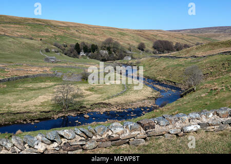 Wensleydale in the Yorkshire Dales National Park in Yorkshire, England. - Stock Photo