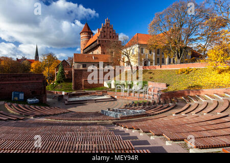 Olsztyn, a Gothic castle from the 14th century, Warmia and Mazury, Poland - Stock Photo