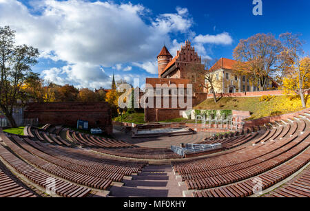Olsztyn, a Gothic castle from the 14th century, Warmia and Mazury, Poland - Stock Photo