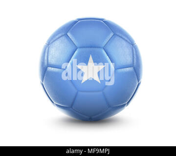 High qualitiy rendering of a soccer ball with the flag of Somalia.(series) - Stock Photo
