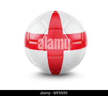 High qualitiy rendering of a soccer ball with the flag of England.(series) - Stock Photo