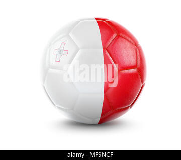 High qualitiy rendering of a soccer ball with the flag of Malta.(series) - Stock Photo