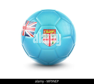 High qualitiy rendering of a soccer ball with the flag of Fiji.(series) - Stock Photo