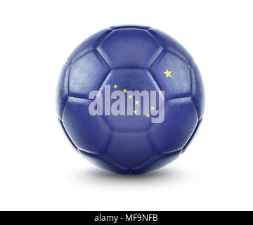 High qualitiy rendering of a soccer ball with the flag of Alaska.(series) - Stock Photo