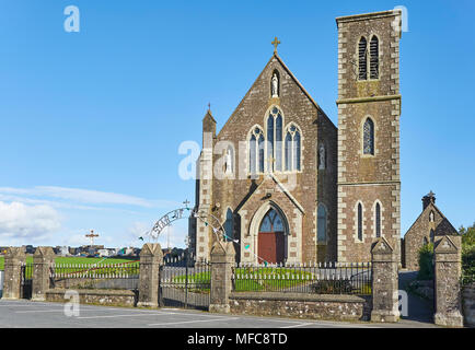 The Catholic Our Lady, Star of the Sea Church stands on Duncannons highest point overlooking the Waterford Estuary. County Wexford, Southern Ireland. - Stock Photo