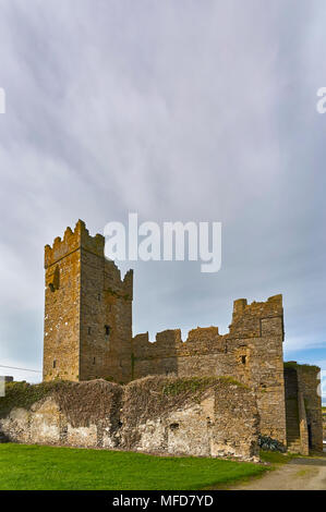 The 15th Century Slade Castle in the Irish Village of Slade is a National Monument a well preserved example of a small Irish Castle. County Wexford, - Stock Photo