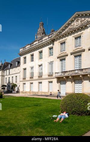 In the gardens of the Musée des Beaux-Arts de Tours, in Tours, Indre-et-Loire - Stock Photo