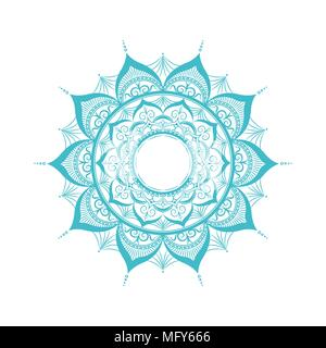 Zentangle mandala.Isolated on white.Vector illustration in flat style - Stock Photo