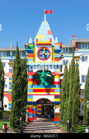Entrance to Resort Hotel at Legoland Windsor Resort, Windsor, Berkshire, England, United Kingdom - Stock Photo