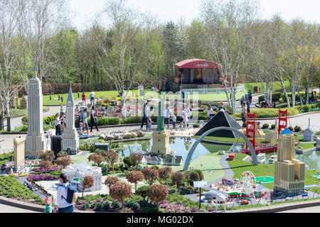 Miniland USA at Legoland Windsor Resort, Windsor, Berkshire, England, United Kingdom - Stock Photo