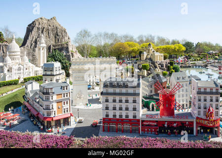 Paris sights at Miniland France, Legoland Windsor Resort, Windsor, Berkshire, England, United Kingdom - Stock Photo