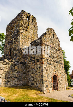 Church of Saint Olof in Sigtuna, Sweden - Stock Photo