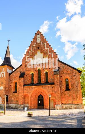 St. Mary's Church (Mariakyrkan), Sigtuna, Sweden. - Stock Photo