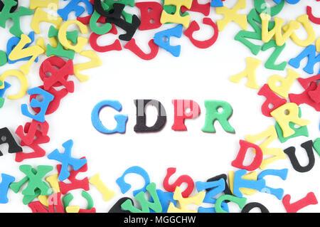 GDPR general data protection regulation - Stock Photo