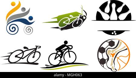 Sport Vector Template Set - Stock Photo