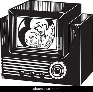 Television - Retro Clipart Illustration - Stock Photo