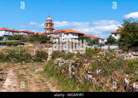 Monasterio de Santa María. Xunqueira de Ambía. Orense. Galicia. España - Stock Photo
