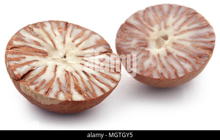 Betel nuts over white background - Stock Photo