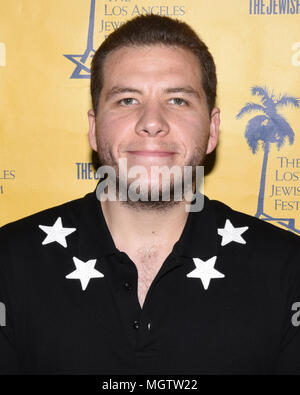 Beverly Hills, USA. 28th Apr, 2018. Lauro Rocha arrives at the 13th Annual Los Angeles Jewish Film Festival LA premiere of 'The Samuel Project' at the Laemmle Music Hall on Saturday 28, 2018. Credit: The Photo Access/Alamy Live News - Stock Photo