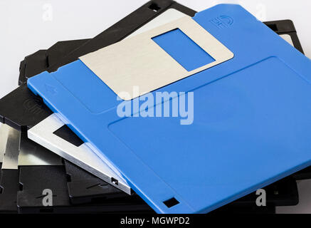 Floppy disk drive (FDD), data storage for pc in the old day. - Stock Photo