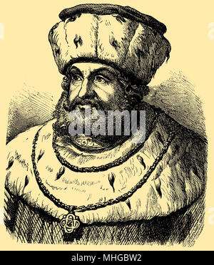 Frederick III., the Wise (born January 17, 1463, died May 5, 1525), - Stock Photo