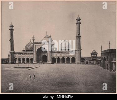 Jumma Musjid, Delhi, India - Stock Photo