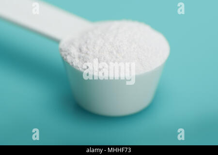Diet supplement, glucosamine, fructose, dextrose or spirulina extract. Could also be a Sport Supplement like lysine, guarana, valine or protein powder - Stock Photo