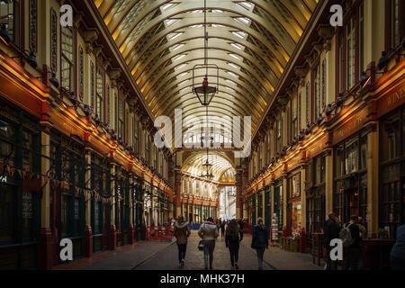London (UK), September 2017. Leadenhall Market. Landscape format. - Stock Photo