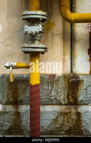 Chinese Pipeline Networks of Tap Water on the Street - Stock Photo