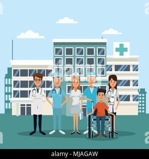 Medical team at hospital - Stock Photo