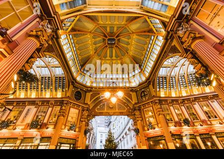 England, London, City Of London, Leadenhall Market - Stock Photo