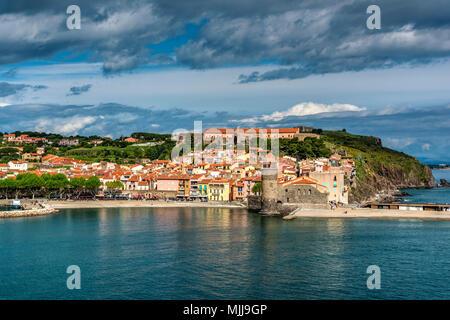 Collioure, Pyrenees-Orientales, France - Stock Photo