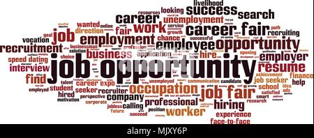 Job opportunity word cloud concept. Vector illustration - Stock Photo