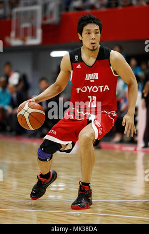 Tokyo, Japan. 6th May, 2018. Shohei Kikuchi (ALVARK) Basketball : 2017-18 B.LEAGUE B1 game between Alvark Tokyo 106-68 Kyoto Hannaryz at Tachikawa Tachihi Arena in Tokyo, Japan . Credit: Yusuke Nakanishi/AFLO SPORT/Alamy Live News - Stock Photo