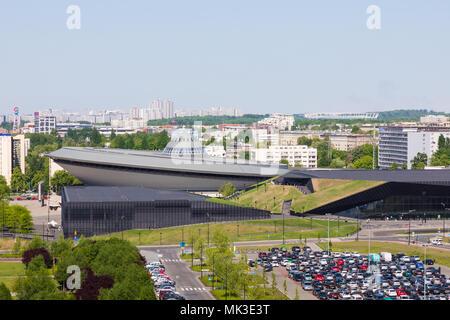 KATOWICE, POLAND - MAY 05, 2018: Entertainment hall called Spodek in city center of Katowice, Silesia. - Stock Photo