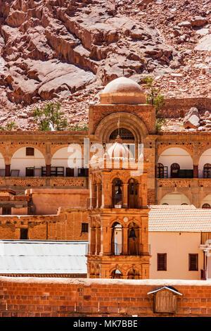 Bell tower of Saint Catherine's Monastery, Egypt - Stock Photo