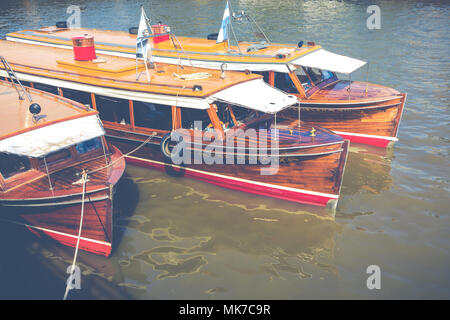 TIGRE, ARGENTINA - JANUARY 31, 2018 : Maritime transport in El Tigre port. Tigre is an important city in the province of Buenos Aires, Argentina. - Stock Photo