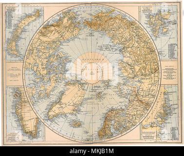 North Polar Region 1897 - Stock Photo