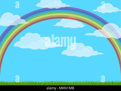 Sky with Rainbow - Stock Photo