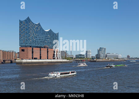 Elbe Philharmonic Hall, Harbour City, Hamburg, Germany - Stock Photo