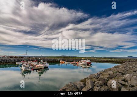 Harbor at Thorlakshofn, Iceland - Stock Photo